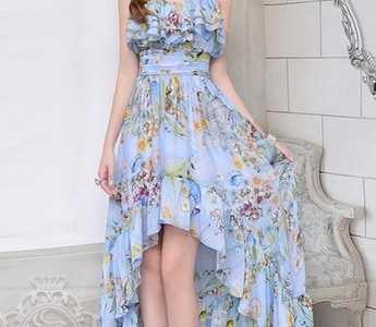 前面短后面长的裙子 前短后长的长裙款式